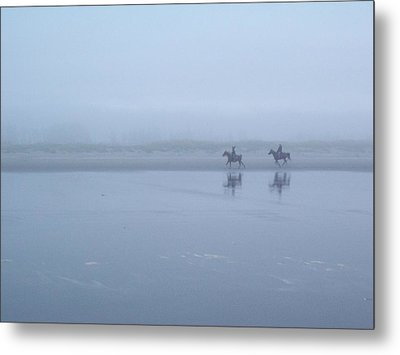 Metal Print featuring the photograph Riding In The Mist by Peter Mooyman