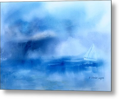 Riding Out The Storm Metal Print by Arline Wagner