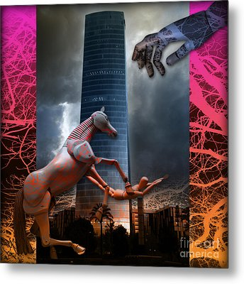 Metal Print featuring the photograph Riding  The Phallus Dream by Rosa Cobos