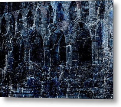 Rievaulx In The Crack Of Night Metal Print by Jen White