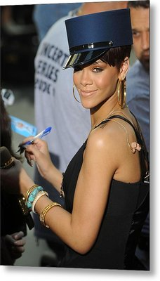 Rihanna On Stage For Nbc Today Show Metal Print by Everett