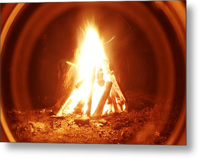 Ring Of Fire Metal Print by Artist Orange