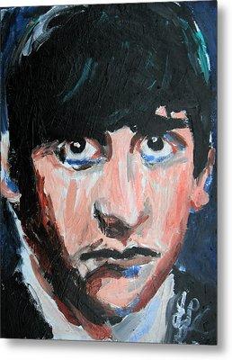 Ringo Starr  Metal Print by Jon Baldwin  Art