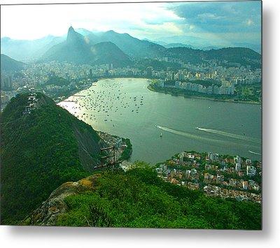 Rio De Janiero. Breathtaking  Metal Print by Michael Clarke JP