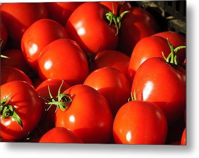 Ripe Tomatoes Metal Print by Connie Cooper-Edwards