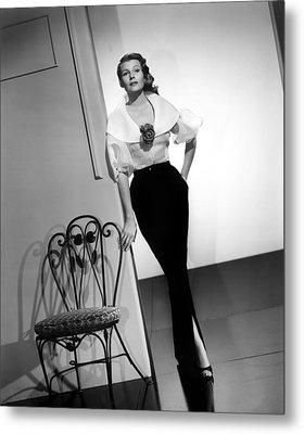 Rita Hayworth, Columbia Pictures, 1956 Metal Print by Everett