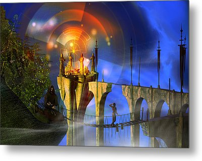 Metal Print featuring the digital art Rite Of Passage by Shadowlea Is