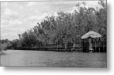 Metal Print featuring the photograph River Boardwalk by Bill Lucas