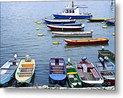 River Boats On Danube Metal Print