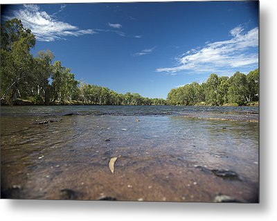 Metal Print featuring the photograph River Crossing. by Carole Hinding