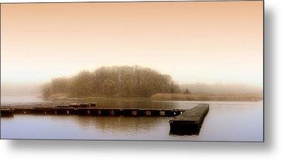 River Fog Metal Print by Karen Lynch