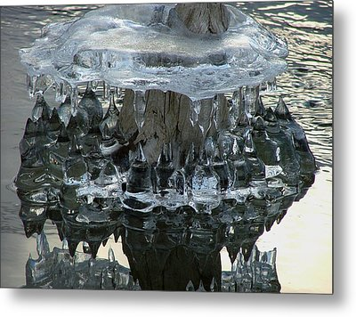River Ice Metal Print