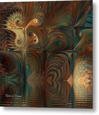 Metal Print featuring the digital art River Of Dreams by Kim Redd