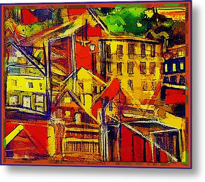 River Town In Ohio Metal Print by Mindy Newman
