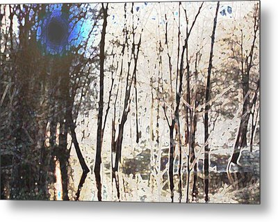 River Trees Metal Print