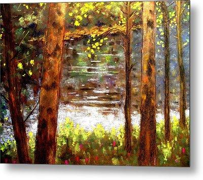 River Trees Metal Print by John  Nolan
