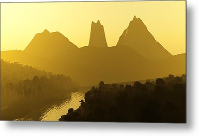 River Valley Metal Print by Svetlana Sewell