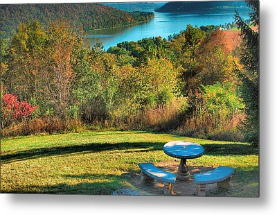 River View Iv Metal Print by Steven Ainsworth