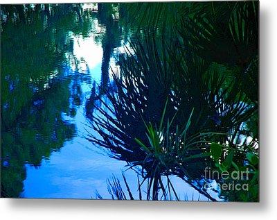 Riverbank Reflections3 Metal Print
