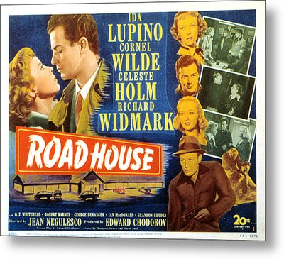 Road House, Ida Lupino, Richard Metal Print by Everett