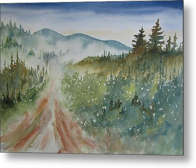 Road Through The Hills Metal Print