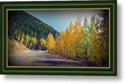 Road To Fall Metal Print by Michelle Frizzell-Thompson
