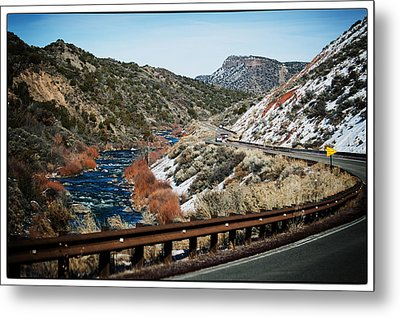 Road To Taos Village 1 Metal Print by Lisa  Spencer