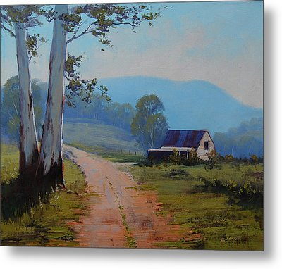 Road To The Farm Metal Print by Graham Gercken