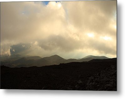 Metal Print featuring the photograph Road Up Mauna Kea by Scott Rackers