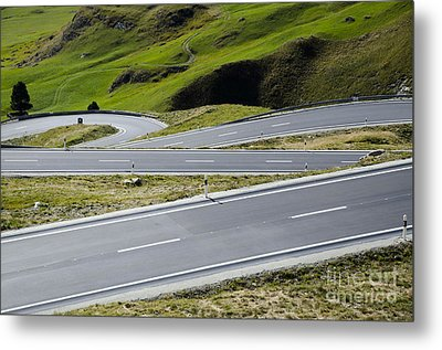 Road With Curves Metal Print by Mats Silvan