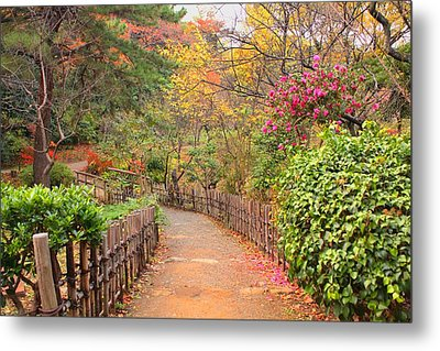 Road With Fence Metal Print by ~~**Yuri's Photography**~~