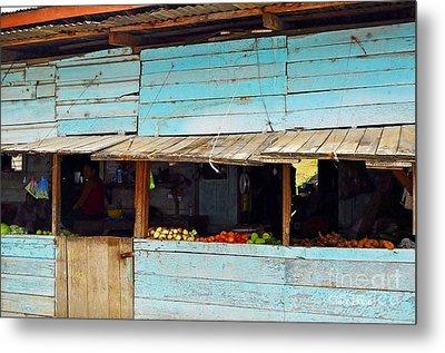 Roadside Fruit Stand- Belize Metal Print by Li Newton