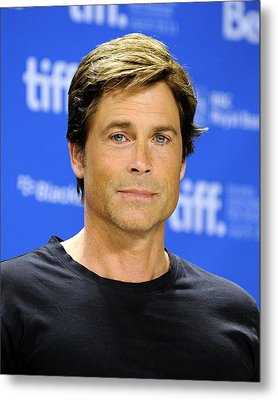 Rob Lowe At The Press Conference Metal Print by Everett