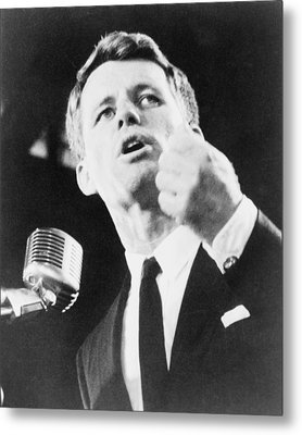 Robert F. Kennedy Making His Acceptance Metal Print by Everett