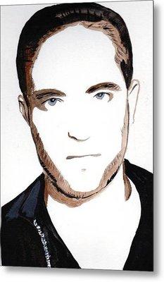 Metal Print featuring the painting Robert Pattinson 10 by Audrey Pollitt