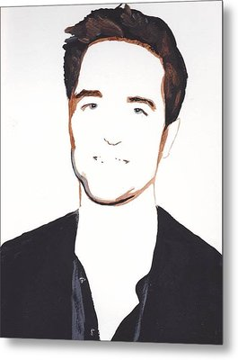 Metal Print featuring the painting Robert Pattinson 13 by Audrey Pollitt