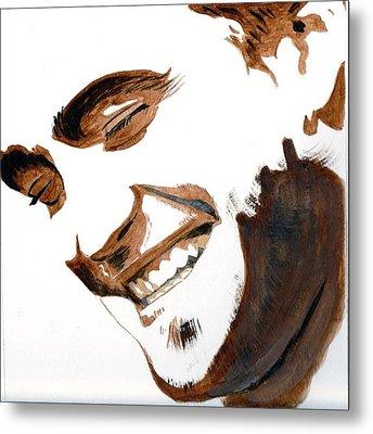 Metal Print featuring the painting Robert Pattinson 16 by Audrey Pollitt