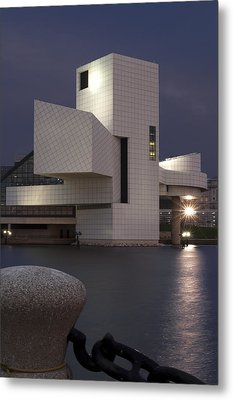 Rock And Roll Hall Of Fame At Dusk Metal Print by At Lands End Photography