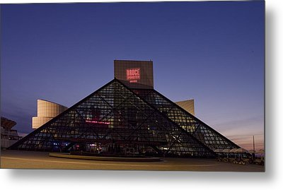 Rock And Roll Hall Of Fame Cleveland Metal Print by Everett