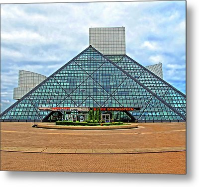 Rock And Roll Hall Of Fame Metal Print by Dave Mills