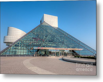 Rock And Roll Hall Of Fame II Metal Print by Clarence Holmes