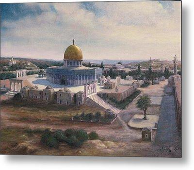 Rock Dome - Jerusalem Metal Print by Laila Awad Jamaleldin