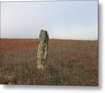 Rock Fence Post Metal Print by Keith Stokes