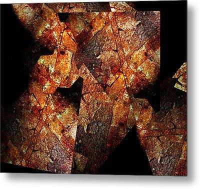 Rock Painting 6 Metal Print by Lynda Lehmann