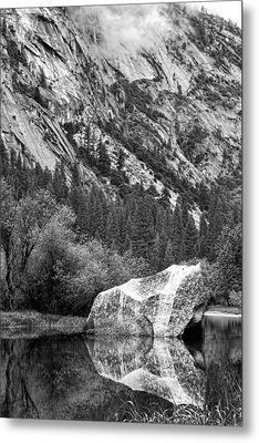 Metal Print featuring the photograph Rock Reflection by Jason Abando