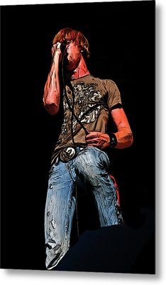 Rock Singer Metal Print by Randy Steele