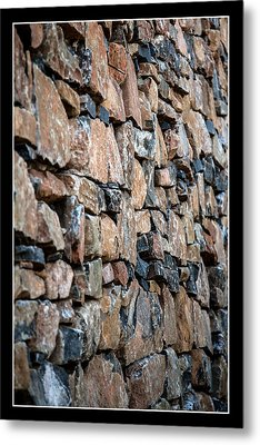 Rock Wall Metal Print by Miguel Capelo