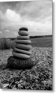Rock Zen Metal Print by Kami McKeon