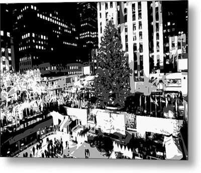Rockefeller Tree Bw8 Metal Print by Scott Kelley
