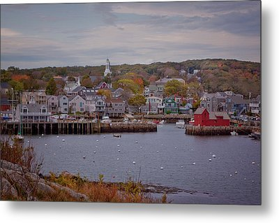 Metal Print featuring the photograph Rockport Harbor by Tom Singleton
